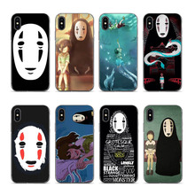 Spirited Away No Face man Haku Chiharu case mobile phone shell for iPhone 8 7 6 6S Plus X XS XR XSmax 7plus 8plus Cover