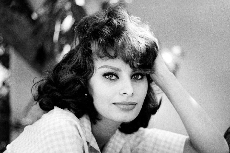 Sophia Loren Movie Actress Celebrity Poster Silk Fabric