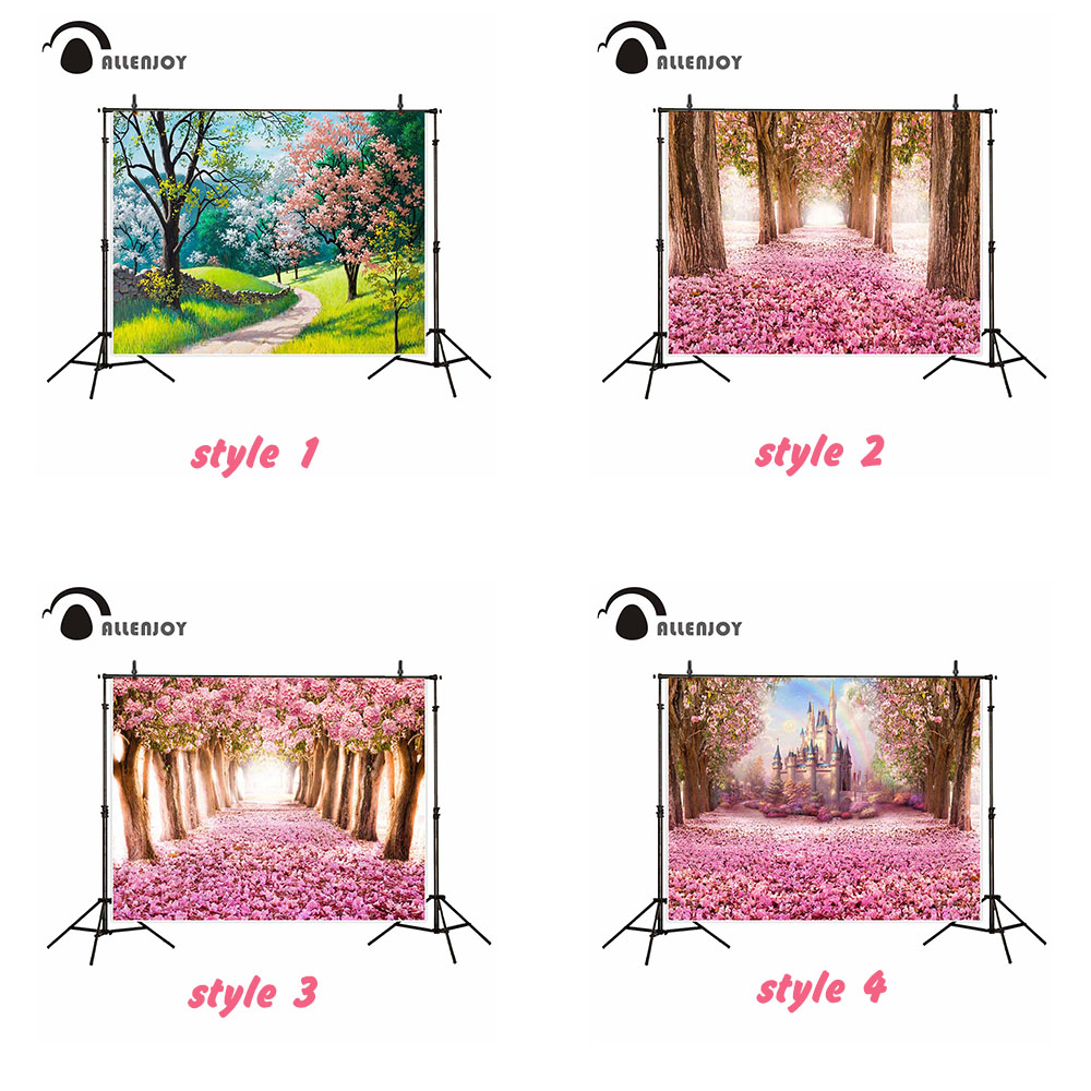 Allenjoy 5ftx7ft photography backdrop Natural fresh landscape romantic flowers castle wedding background new arrivals photocall