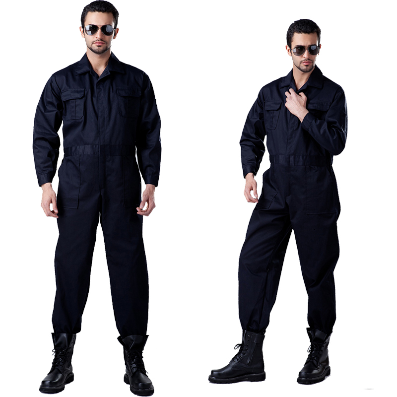 High Quality men s long sleeve workwear work coverall twill poly cotton work jumpsuit free shipping