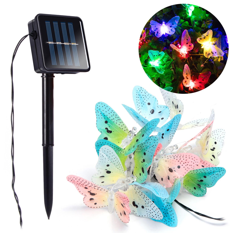 Led Lighting Yingtouman 2018 Solar Cell Fiber Butterfly Lamp 10led 2.8m Christmas Holiday String Led Light Wedding Party Garland Decoration Led String