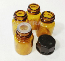 12PCS 2ML Mini Amber Glass Essential Oil Bottle Orifice Reducer cap Brwon Glass Vials Small Essential Container Wholesale