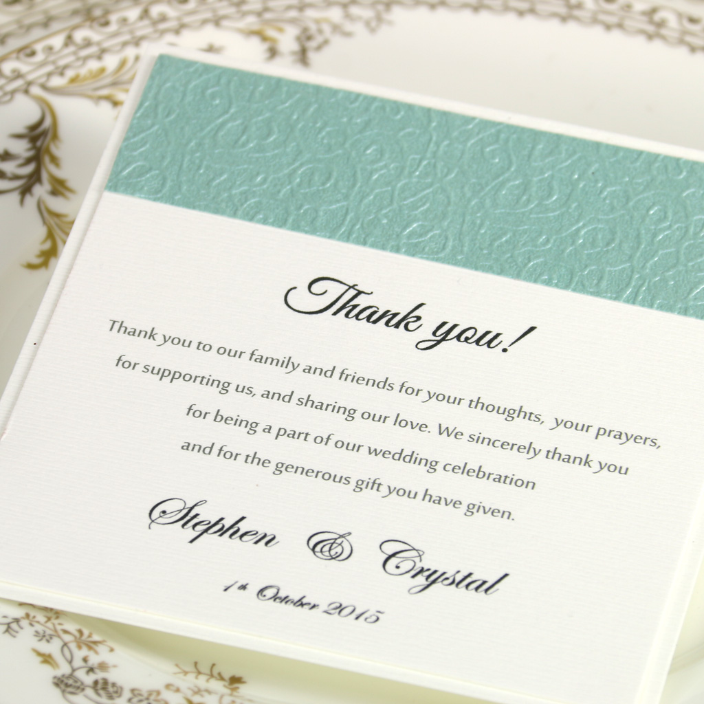 Thank You For Wedding Invitation Template Design