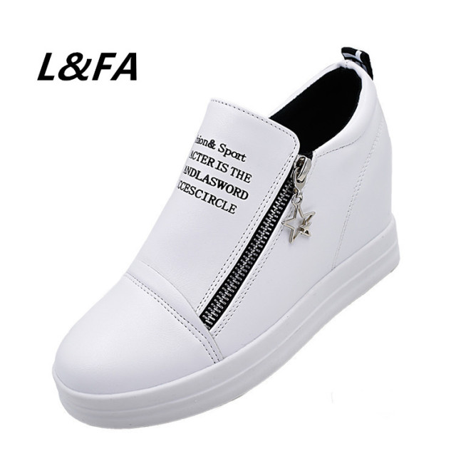2017 Brand Women Flats Patch Letters Spring Shoes Height Increasing Flat Sole Platform Shoes Woman Size 35-40 Casual Women Shoes