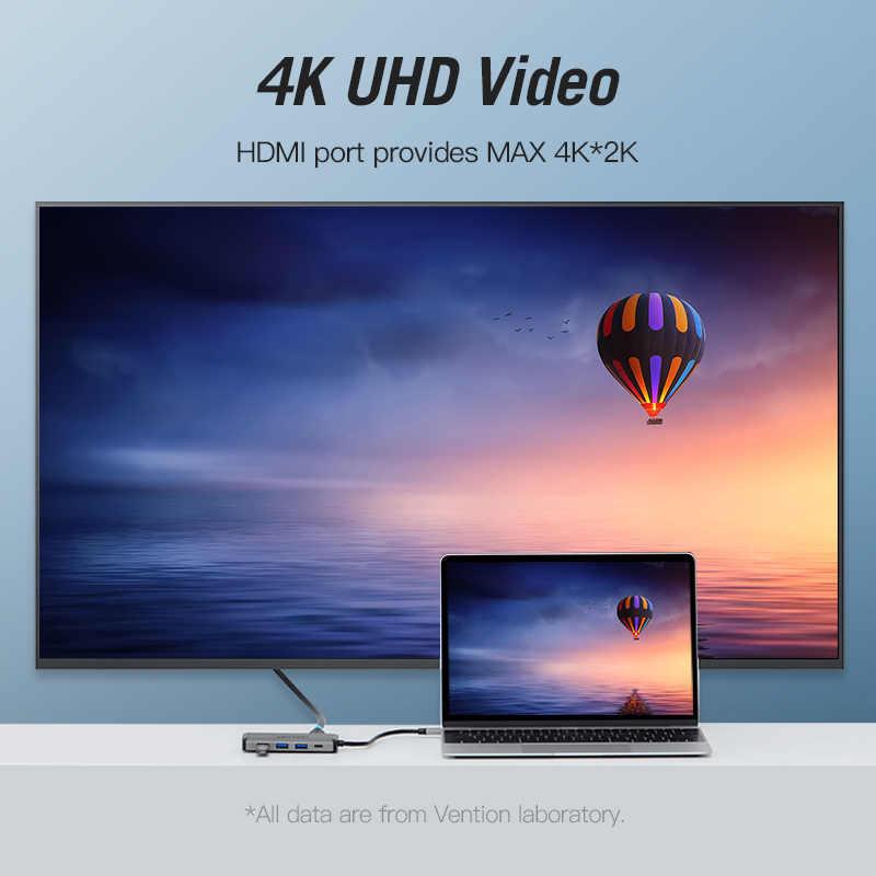 Mukavele Usb Hub USB tip C HDMI için USB 3.0 HUB Thunderbolt 3 macbook adaptörü Samsung S9 Huawei Mate 20 P20 pro USB-C HUB