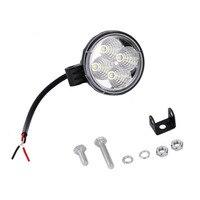 Universal Super Bright 4 LED 12W Round Car Light Waterproof Floodlight 60 Degrees Work Light Driving