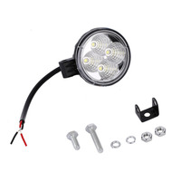 Universal Super Bright 4 LED 12W Round Car Light Waterproof Floodlight 60 Degrees Work Light Driving
