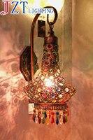М Чехии Европейский Средиземноморский настенный светильник LED Кристалл Спальня ночники E27 лампа База гладить сад в Юго Восточной Азии