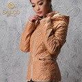 SALCO Venda 2015 do sexo feminino jaqueta casaco de senhora em longo casaco de algodão fino.