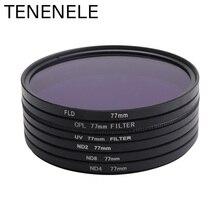 TENENELE 49 52 55 58 62 67 72 77 82 มิลลิเมตร ND2/ND4/ND8/FLD/CPL /UV ป้องกันตัวกรองกล้องสำหรับ Sony Nikon Canon Pentax เลนส์