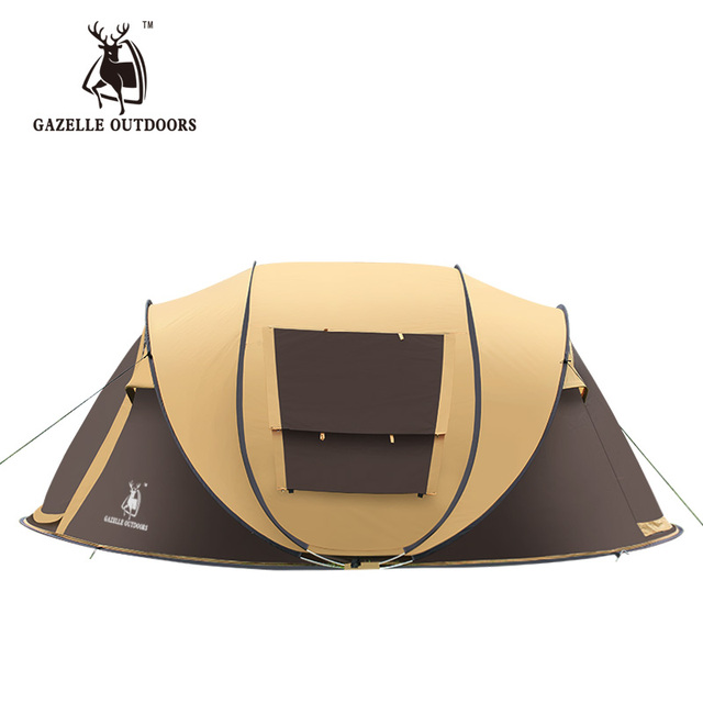 Emblem antelope outdoor 3-4persons automatic speed open throwing  pop up windproof waterproof beach camping tent large space