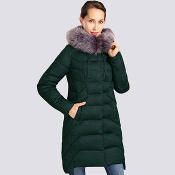 цена на 2020 New Winter Jacket Women Plus Size Fur Collar Long Womens Winter Coat Thick High Quality Warm Down Jackets Parka Outwear