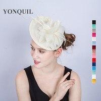 High Grade Fancy Feather Flower Party Hair Fascinators Ivory Hair Fasinator Hair Band Bridal Accessories Headband
