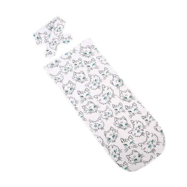 Çok Baskı Kıyafetler Yürümeye Başlayan Bebek Için Bebek Erkek Kız Kundak Çiçek Kundaklama muslin battaniye Paketi Yay Bandı 2 adet Set
