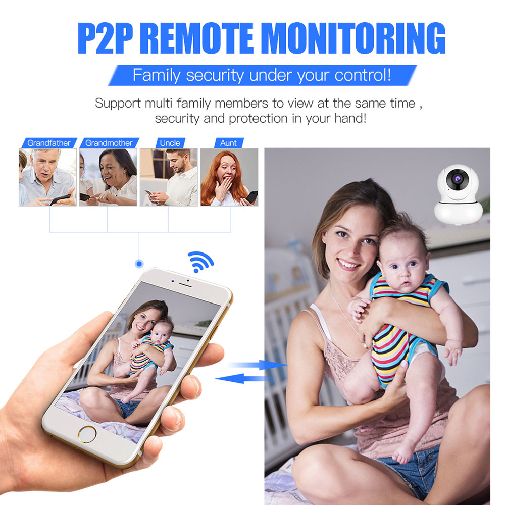 WANSCAM K21 1080P WiFi Smart IP Camera Zoom Face Detection Tracking TPZ  Two-way Audio APP Monitor Indoor Surveillance Camera