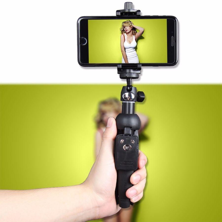 Bluetooth sans fil à distance Selfie bâton lourd YUNTENG monopode pour Mobile pour iPHONE pour HTC pour Samsung pour caméra LG