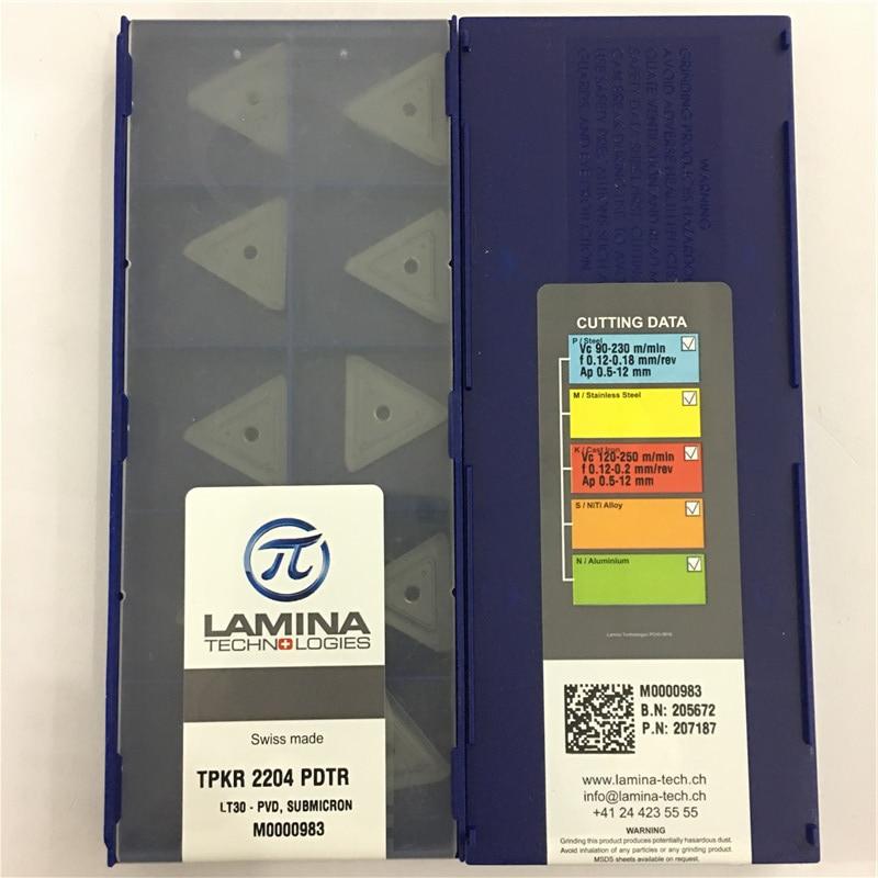 TPKR2204PDTR LT30 Original LAMINA CNC blade carbide insert lathe tool 10pcs lot FREE SHIPPING