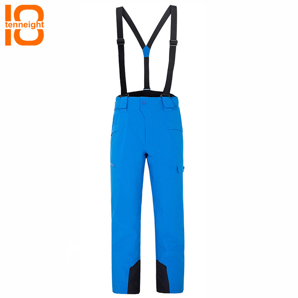Aspiring Tenneight Winter Ski Pants Men Thick Warm Waterproof Outdoor Sports Skiing Snowboard Pants Snow Trousers Detachable Suspenders