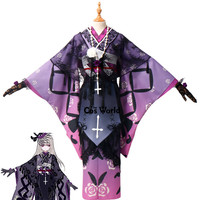 Rozen Maiden 15th Anniversary Mercury Lampe Kimono Apron Dress Uniform Outfit Anime Cosplay Costumes