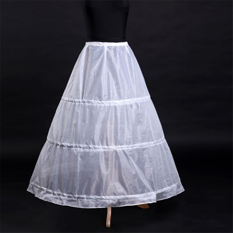 It's Yiiya Women White 3 Hoops A-line Wedding Accessories Bridal Crinolines Vestidos De Novia Underskirt Bustle Petticots K