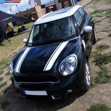 Гоночные полосы капот Декор наклейка автомобильная голова индивидуальная наклейка для MINI Cooper S Countryman Clubman Paceman R56 R60 R61 F54 F55 F56