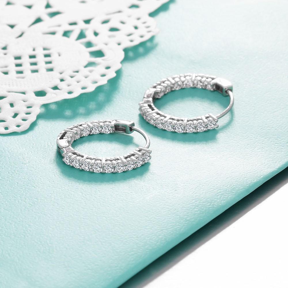 حلق الفضة 925 حجر الزركون 5