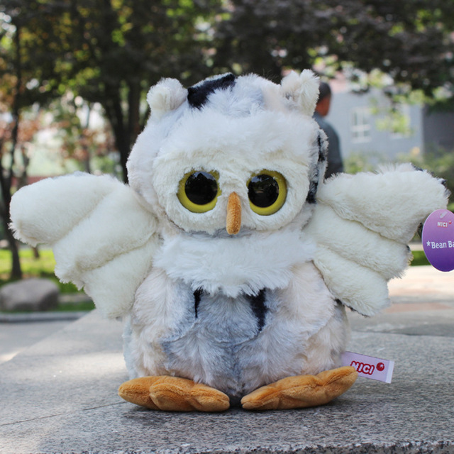 20cm Germany Nici Standing Eyes Sharp Nose Plush Cute Owl For Children Birthday Gifts 1pcs