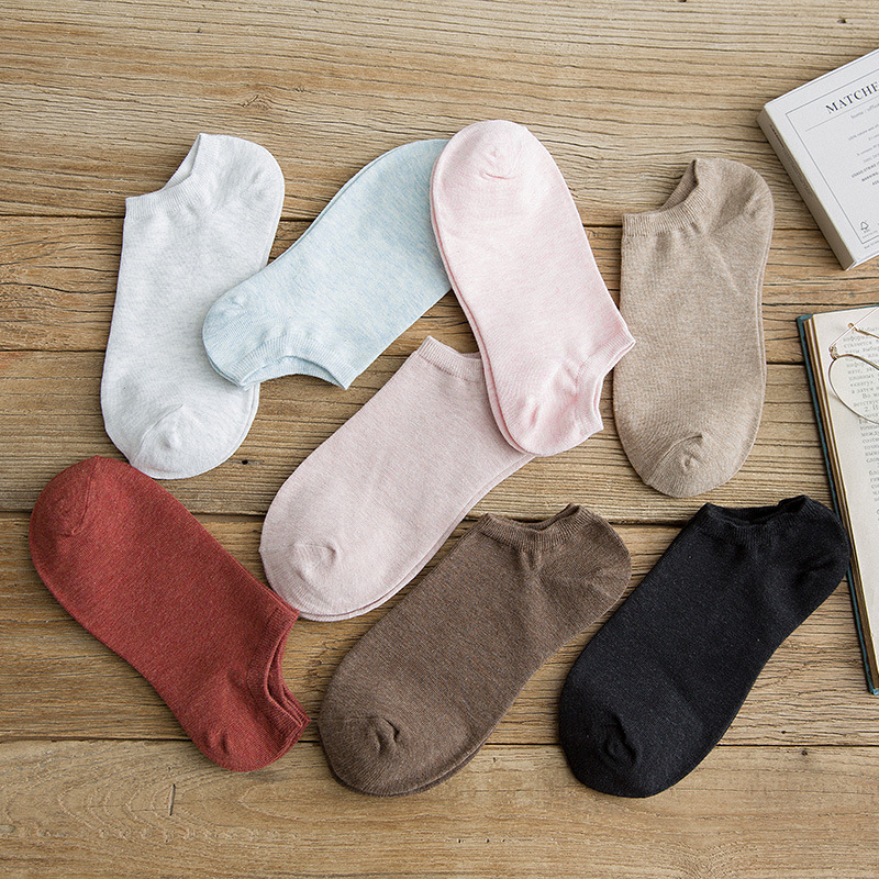 2019 hot fashion ladies Harajuku 100% cotton   socks   candy color comfortable ladies ankle   socks   ladies summer short   socks