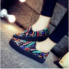 2 Colours Size 35-40 Painting Cartoon Lady Fashion Casual Canvas Shoes Girl's Student Footwears Korean College Shoes V087