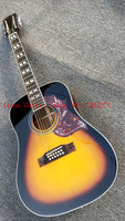 2018+ Factory + Custom + Hot + Spruce Top + Mahogany Both and Back +41 +12 Strings Acoustic Guitar + Free Shipping