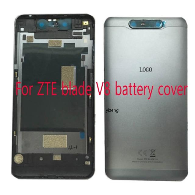 """5.2 """"ل ZTE شفرة V8 V 8 BV0800 البطارية غطاء الباب الخلفي الإسكان حالة مع كاميرا الزجاج لديها الطاقة الجانب زر"""