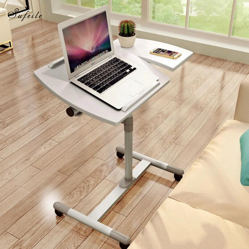 SUFEILE Foldable Laptop Table Stand Lap Sofa Bed Tray Computer Notebook Desk bed table Simple Office table Mobile Laptop D50 Стол