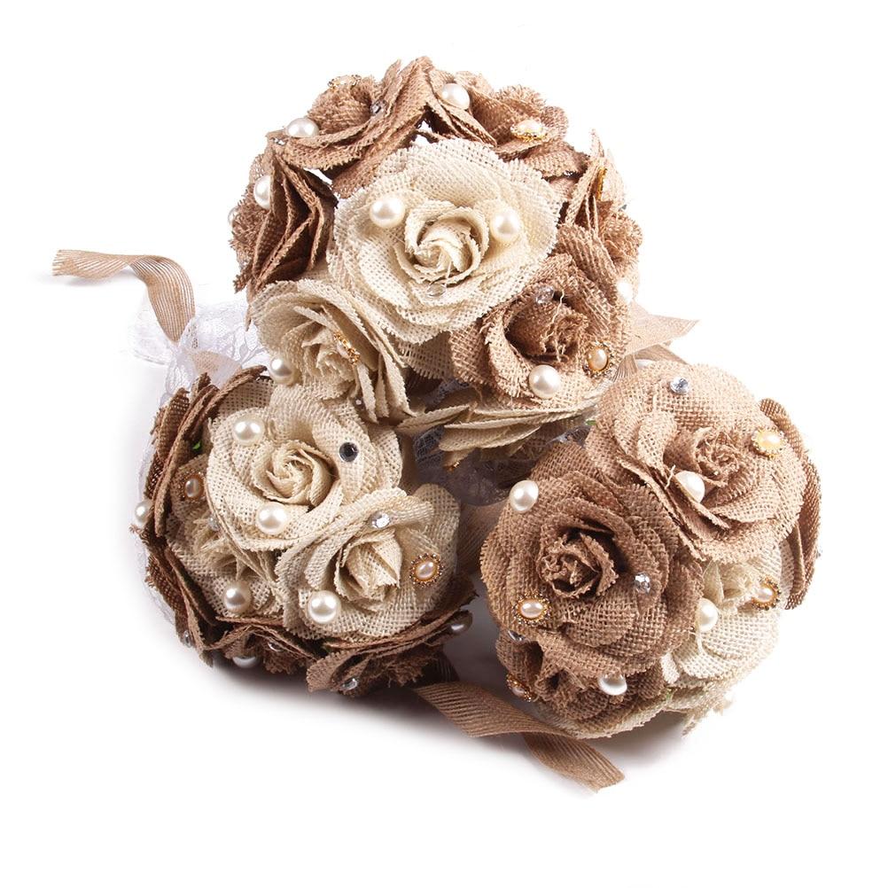 Rustic wedding bouquet burlap flower bouquet lace and pearls rustic wedding bouquet burlap flower bouquet lace and pearls izmirmasajfo