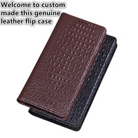 QX02 Genuine leather phone bag with magnet for Samsung Galaxy S9 Plus(6.2') flip case for Samsung Galaxy S9 Plus phone cover