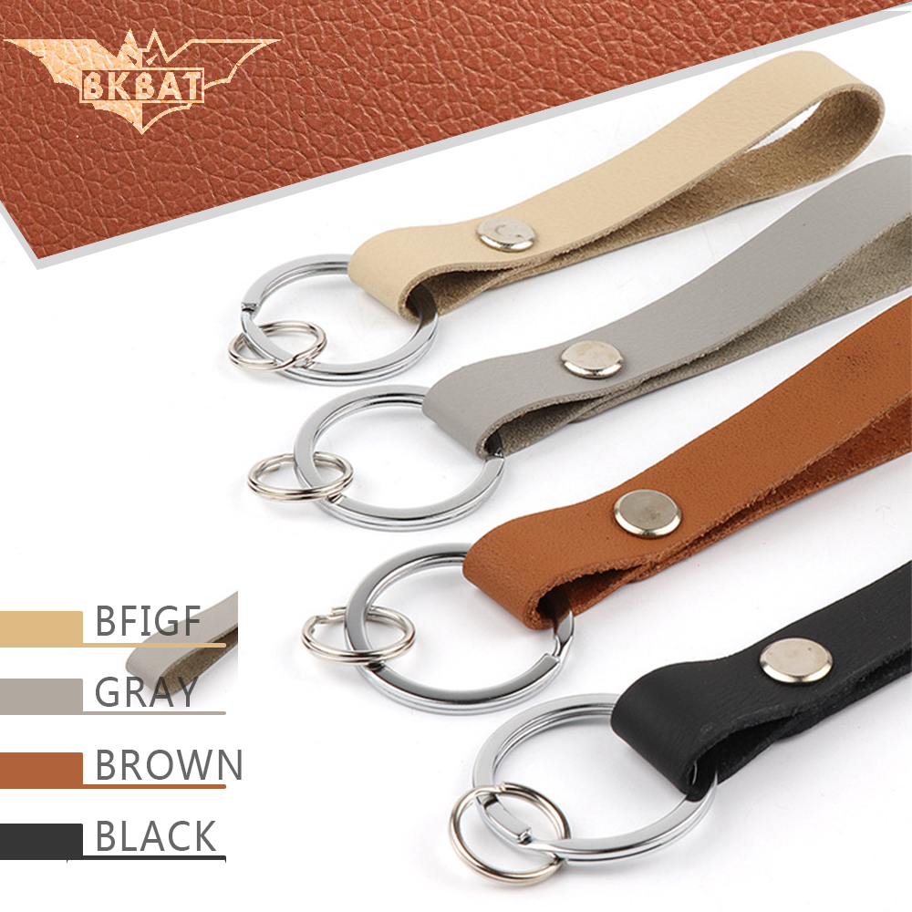 Cowhide Moto Keychain Leather Motorcycle Accessory Key Ring Voiture Chain For llavero renault opel astra k cupra llavero moto
