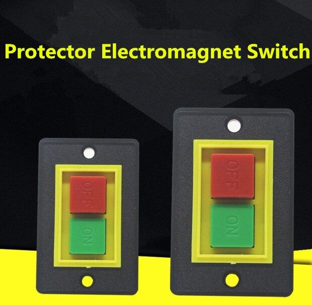 цена на 6-Pin SPST 2-Phase I/O Start-up Motor Self Locking Electromagnetic Switch Black AC 380V 2KW 1PCS