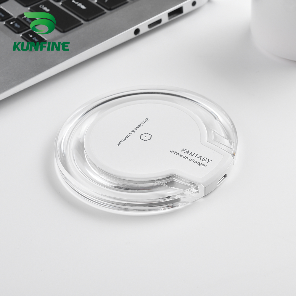 KUNFINE 10W Qi Wireless Charger for iPhone X8 Visible Fast Wireless Charging pad for Samsung S9S9 (5)