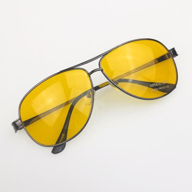37f74005991c New Yellow HD Night Vision Driving Anti Glare Glasses Eyewear sun glass gun  Metal Frame men women sunglasses on Aliexpress.com