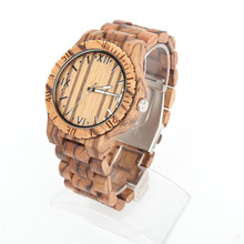Natural wood Watch Men Fashion Casual full Wooden unisex Vegan Quartz Wrist handmade watch Japanese movement wa-68-5608D