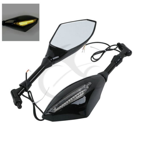 <font><b>LED</b></font> Поворотники Integrated Зеркала Для Honda CB600 CB900 CB919F SC48 02-07 HORNET600 HORNET900 1400 PC34 98-06 Kawasaki <font><b>Z1000</b></font>