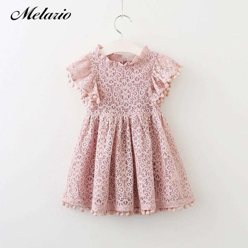 Melario Mädchen kleid 2018 Neue Sommer Spitzenkleid Kinderbekleidung Mode Quaste Kleider Princes Mädchen Kleid Katze