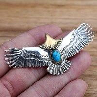 S925 Sterling Silver Jewelry Retro Thai Silver Men And Women Handmade Head Eagle Fashion Male And Female Pendants