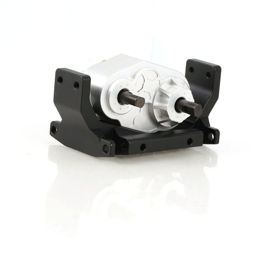 Metal Gearbox Transfer Case with 72MM Mount for 1/10 RC Crawler Axial SCX10 D90 Hsp Redcat Tamiya Axial Servo Accessories