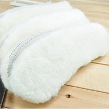 Hot wool insole fur fur winter one warm Australian thick leather men and women snow  warm insoles children