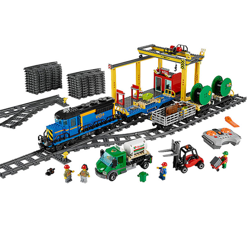 Diy City Series model the Cargo Set Building Train Blocks Bricks legoingly Train Educational Toys for lol Children Gifts lepin 02082 new 829pcs city series the cargo terminal set diy toys 60169 building blocks bricks children educational gifts model