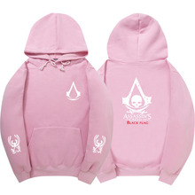 Fashion pink Mens Women Assassins Creed Hoodie Sportswear hip hop Sweatshirt Autumn Winter Skateboard Tracksuit Pullover