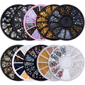 Chameleon Stone 3D Nail Art Decorations in Wheel Irregular Beads Nail Rhinestone Mixed Color Beads Flat Bottom Nail Studs