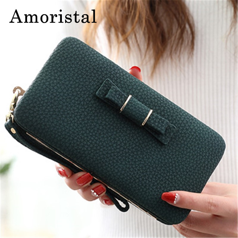 Women Day Clutches Fashion Bowknot PU Leather Clutch Bag Handbag Wallet Holder Card Coin Clutch Purse Wristlet Evening Bag F005 все цены