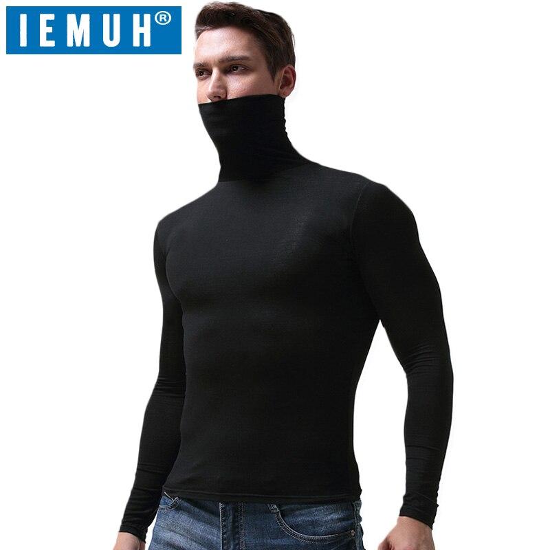 IEMUH Long Johns Top ropa interior térmica de invierno Tops hombres de secado rápido Anti-microbial estiramiento termo ropa interior masculina caliente Fitness