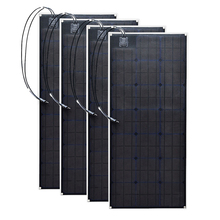 Flexible 100W Monocrystalline Solar panels outdoor solar panel cell system DIY kits RV marine home 12V /24V 400W solar systems